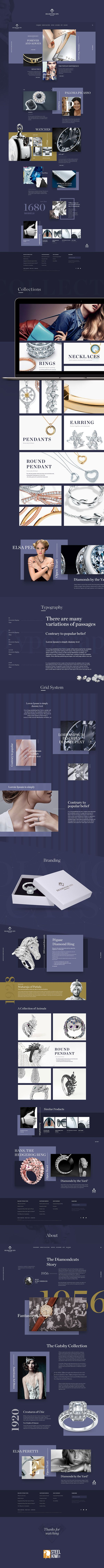 Fresh concept of promo website, created for new jewelry brand.