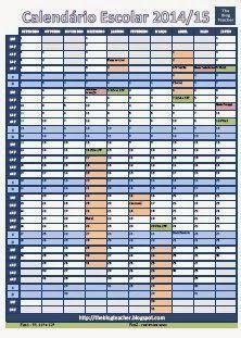 The Blog Teacher: Calendário Escolar 2014-2015