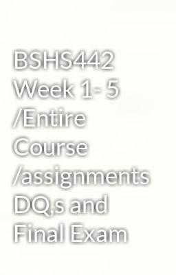 bshs 442 week 5