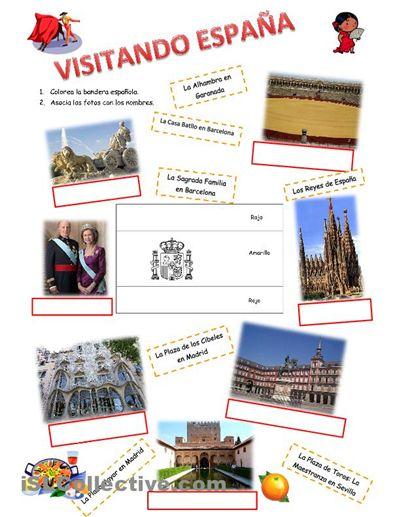 Visitando España - Hojas de trabajo de ELE de espagnol.hispania.over-blog.com