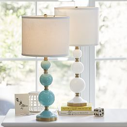 table lamps small table lamps bedside table lamps pbteen for. Black Bedroom Furniture Sets. Home Design Ideas