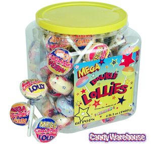 Mega Double Lollies: 60-Piece Tub