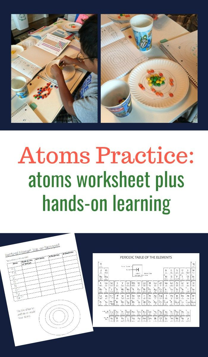 An Atoms Worksheet ideal for middle school students   School worksheets [ 1200 x 700 Pixel ]