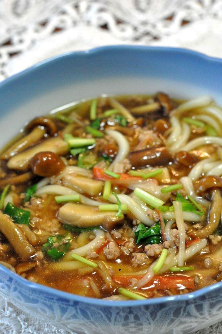 鶏ひき肉で*とろとろ~あんかけうどん* by naonaos [クックパッド] 簡単おいしいみんなのレシピが222万品