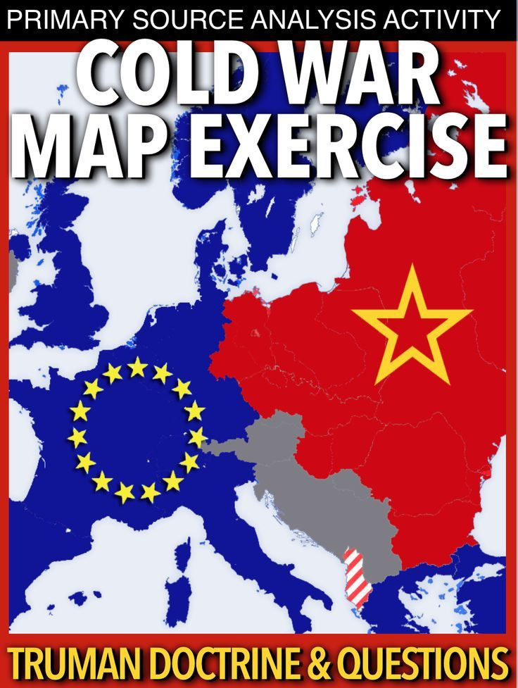Cold War Map Exercise guides students through the divisions that formed immediately after World War II. Students color the alliances of each country in Europe then answer a few questions on their new map. After, they read an excerpt of the Truman Doctrine and complete the exercise based on their analysis of the primary source and map. No other maps from the book are needed, just a set of red and blue color pencils or crayons. This can be used in class or as homework as it's stand alone.