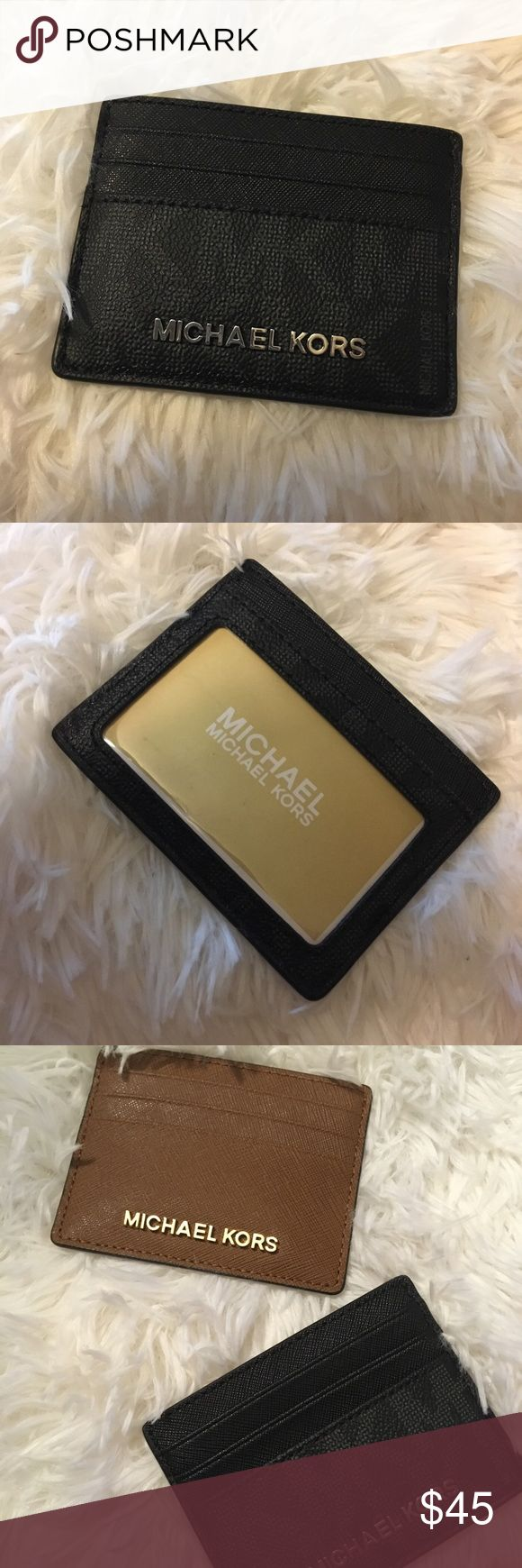 New Michael Kors jet set card holder leather New Michael Kors jet set card holder leather  Retail 68$   Black Michael Kors Bags Wallets