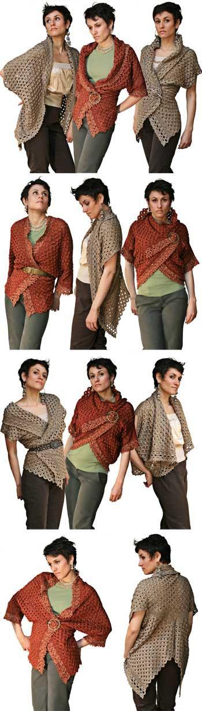 Inspiration Pattern to buy http://www.ravelry.com/patterns/library/endless-crochet-cardi-shawl