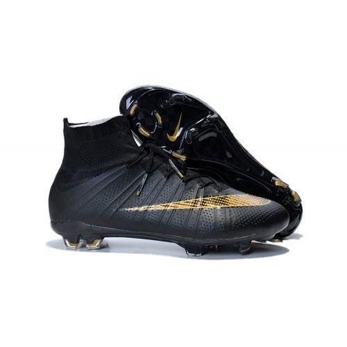 Comprar Nike Mercurial Superfly FG Negro Oro Botas De Futbol