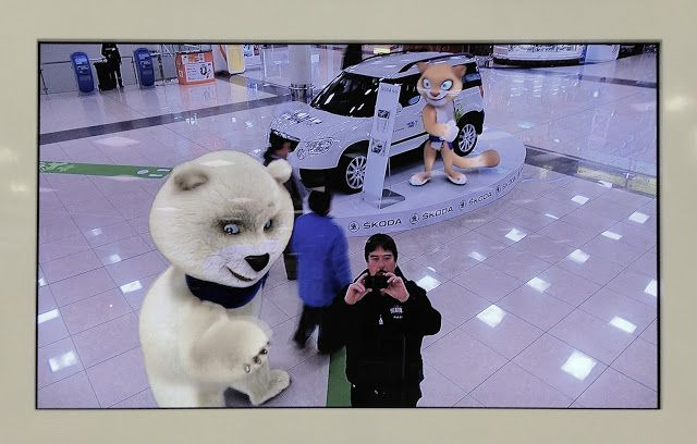 Interactive video at Moscow's Sheremetyevo International Airport