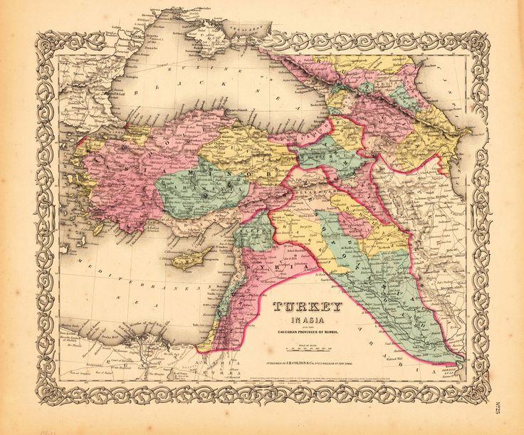 An antique map of Turkey.  My family---the Janishians & the Chalians, are both Marashi---(N.E. of Aleppo).