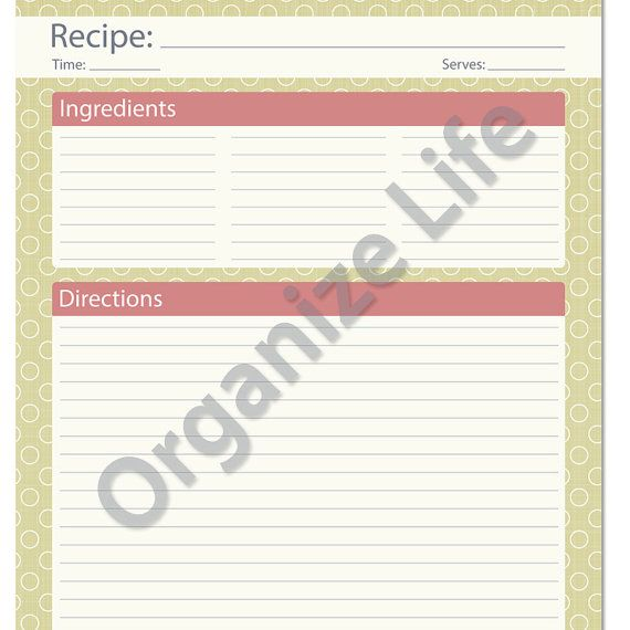 47 best recipes images on Pinterest Printable recipe cards, Recipe - recipe card