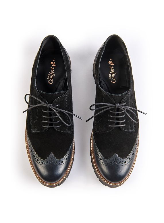 184a77e44fb6 Sole Comfort Black Leather Lace Up Shoes in 2019