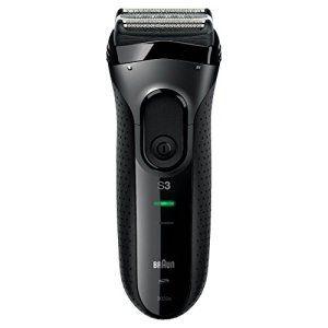Braun Séries 3 3020s Rasoir Électrique à Grille Rechargeable pour Homme – Système de Rasage Triple Action SensoFoil, 100 % Étanche – Noir