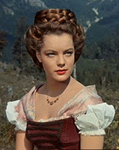 Romy Schneider as Sissi the Bavarian Princess b4 getting married