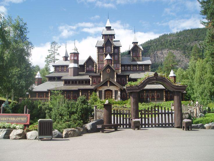 The Fairy Tale Castle at Hunderfossen Adventure Park near Lillehammer, Norway