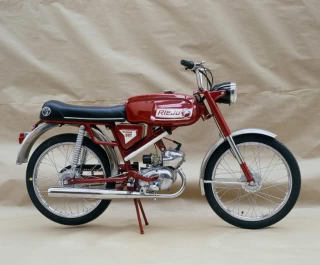 Rieju Confort 501 (1976). Cheap, easy to ride and FUN!