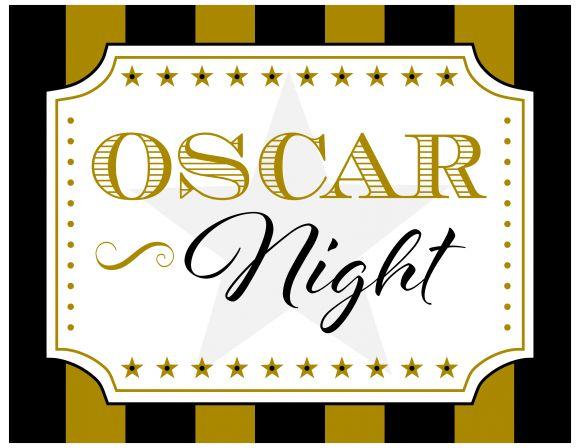 Free Oscar Party Printables | catchmyparty.com