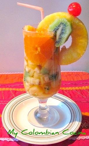 Salpicon de Frutas or Fruit Salad Drink