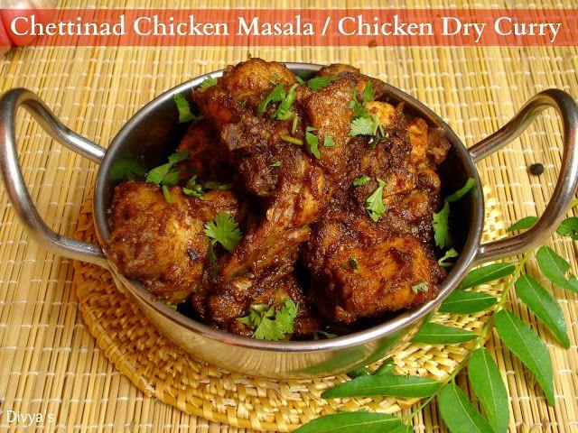 Chettinad Chicken Masala / Chicken Dry Curry