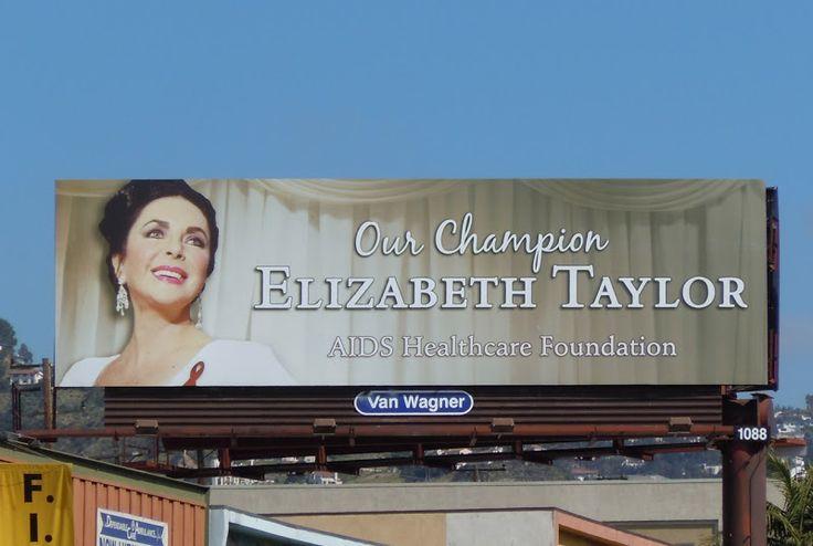 Liz Taylor AIDS Healthcare billboard