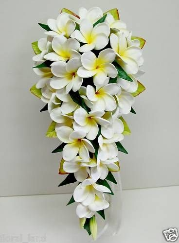 Frangipani bouquet @Mandy Dewey Seasons Bridal