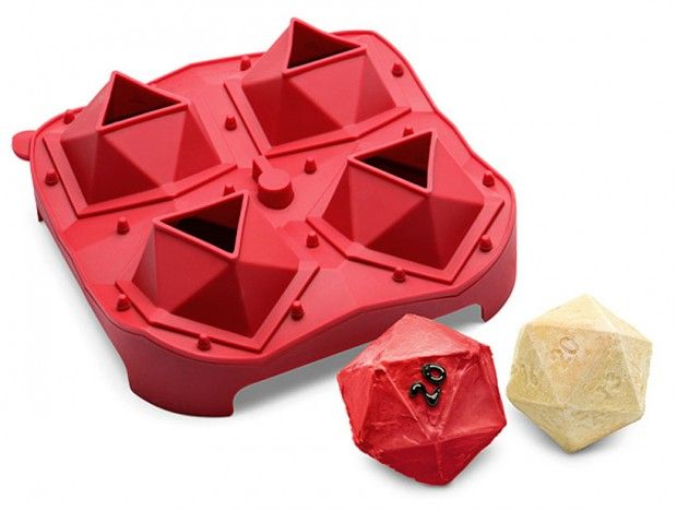 D20 Critical Hit Mini Cake Pan Makes 20-sided Dice Cakes of Awesomeness