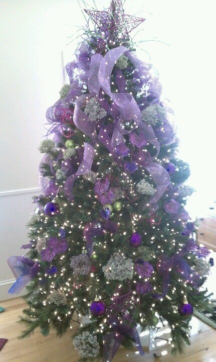 Purple And Black Christmas Tree Decorations : Best purple christmas ideas on