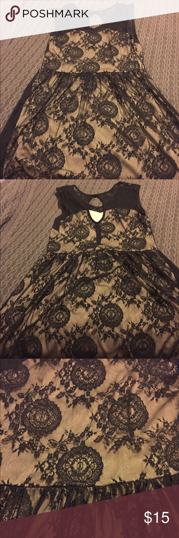 Black and Tan lace dress from ModCloth Size Large. Black and Tan lace dress. ModCloth Dresses