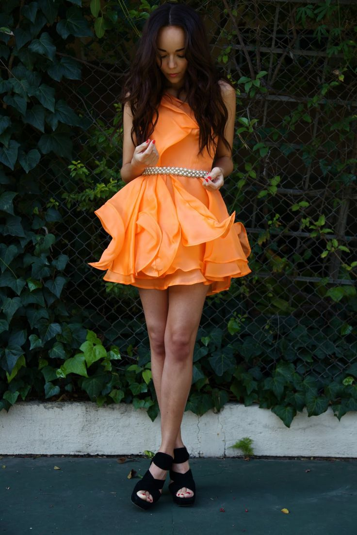 Tangerine dress by Christiane King