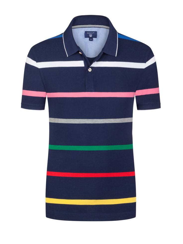 Gant Gestreiftes Poloshirt marine – Hirmer Herrenmode