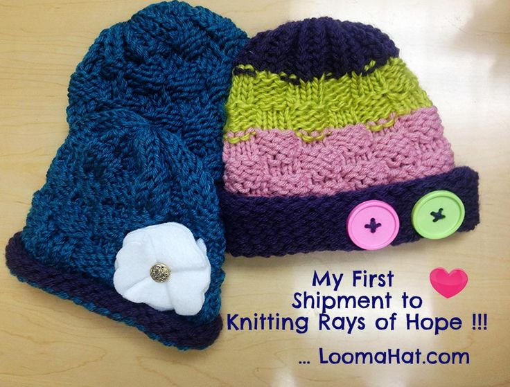 Knit Hat Stitch Calculator : 12 best Loom Knitting for Charity images on Pinterest Loom knitting, Charit...
