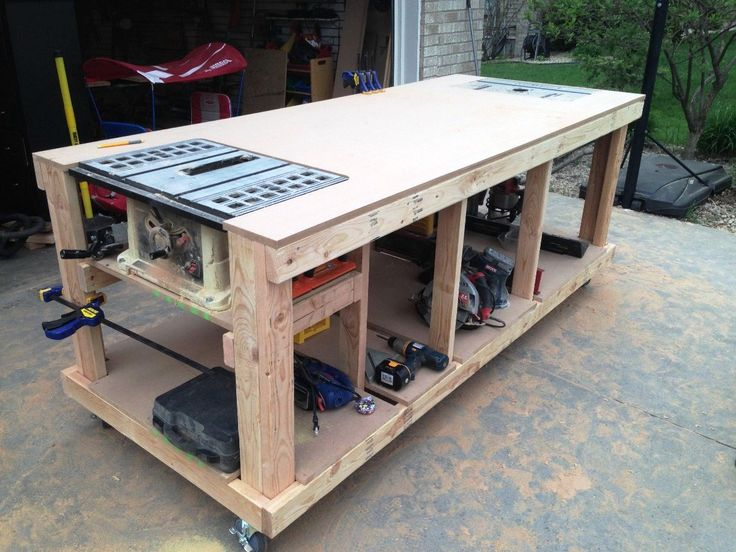 Garage workbench plans pdf workbenches pinterest for Working table design ideas