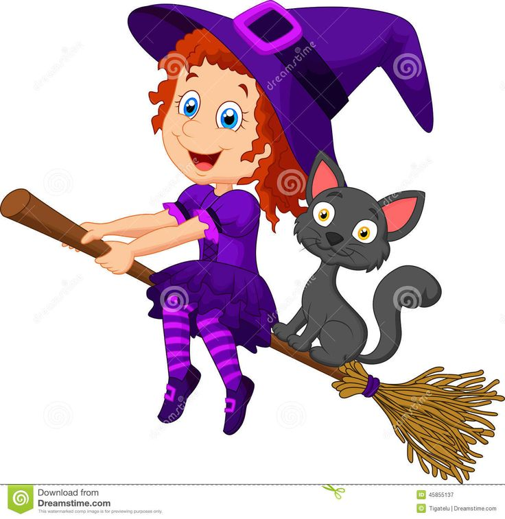 cartoon-young-witch-flying-her-broom-illustration-45855137.jpg (1300×1338)