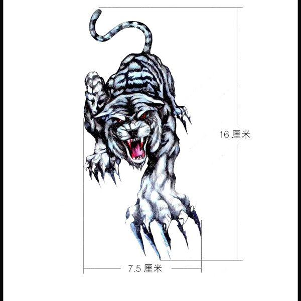Tiger colorful tattoo sleevesmetallic temporary tattoosgold temporary tattoos