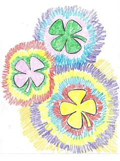 Rainbow Art For St. Patrick's day. Free download. These make a beautiful display. Sarah