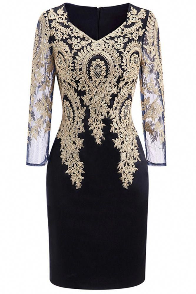 Only 79 99 Cocktail Dresses Long Sleeve Embroidered Cocktail Dress
