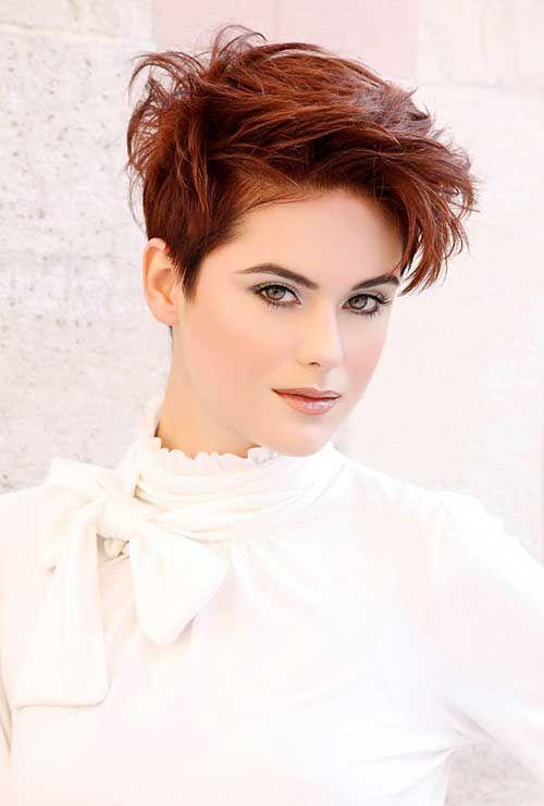 15 Easy Cute Hairstyles for Short Hair | http://www.short-hairstyles.co/15-easy-cute-hairstyles-for-short-hair.html