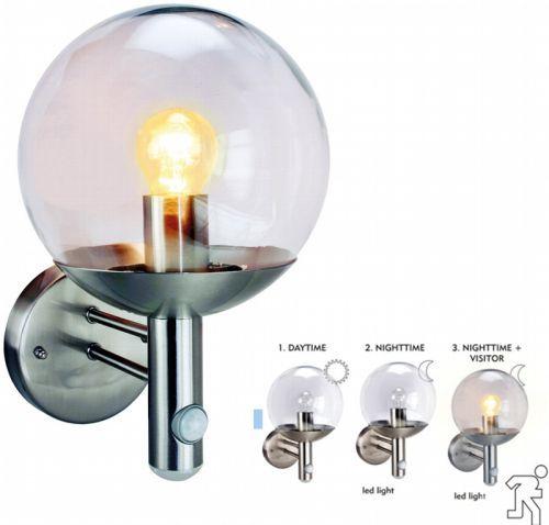 Edelstahl Wandleuchte mit Bewegungsmelder Außen Leuchte Wand Lampe mit Sensor