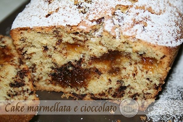 Plum-cake marmellata e cioccolato VEGAN