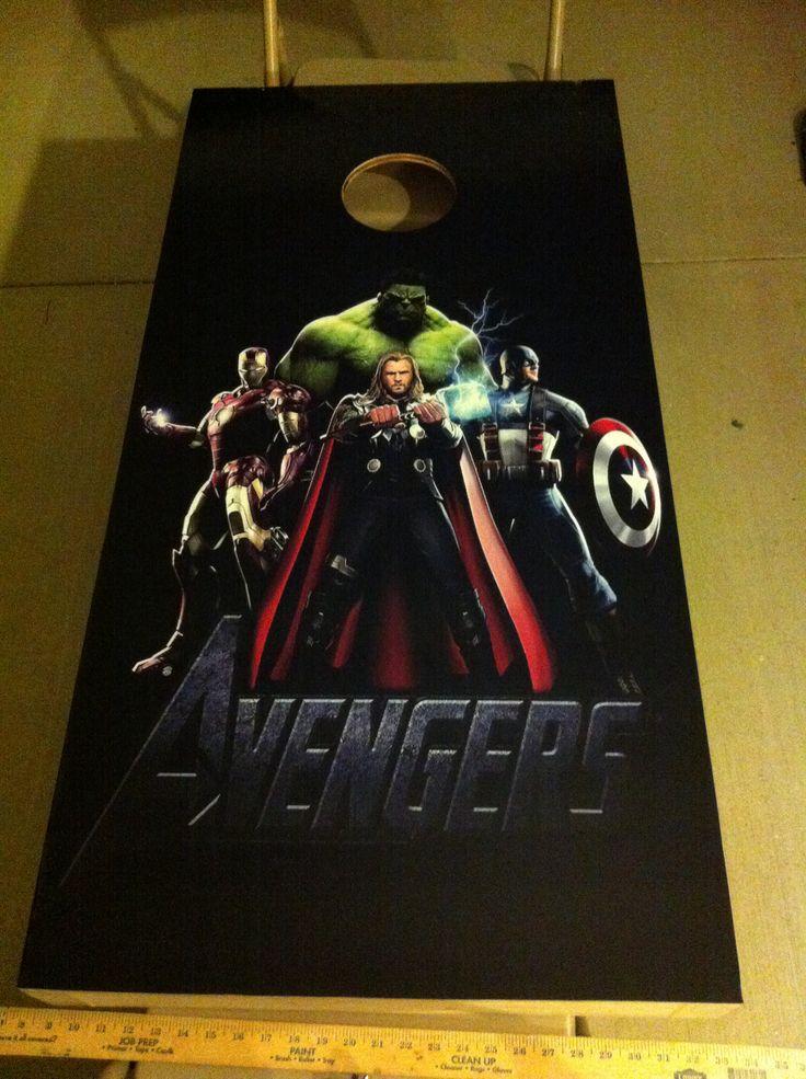 Avengers cornhole boards | Cornhole boards (NNK Cornhole ...