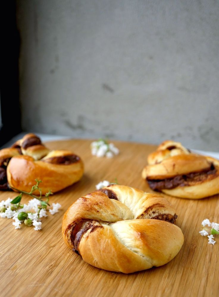 Nutella Twisted Brioche Buns A buttery, soft and eggy brioche stuffed with Nutella. What's not to love?
