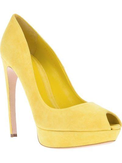 ALEXANDER MCQUEEN - Peep toe amarelo. 6