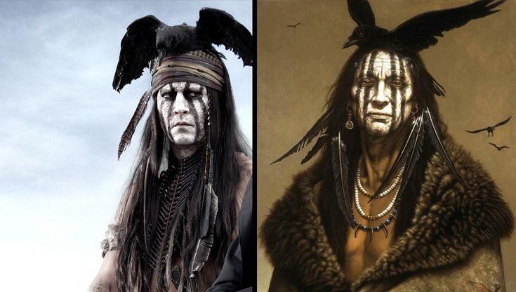 Johnny Depp revela a inspiração para sua maquiagem em O Cavaleiro Solitário - Notícias de cinema - AdoroCinema