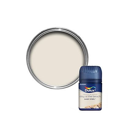 View Dulux Travels In Colour Sandy Steps Cream Flatt Matt Emulsion Paint 50ml Tester Pot details