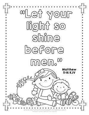 shine for jesus coloring pages | Halloween Bible Printables for Outreach Ministry. Shine ...