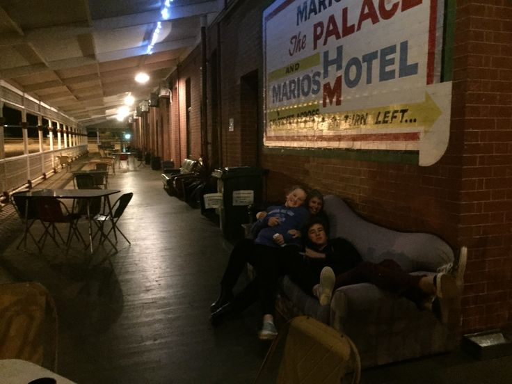 Long, wide country pub verandahs. The Palace Hotel,  Broken Hill