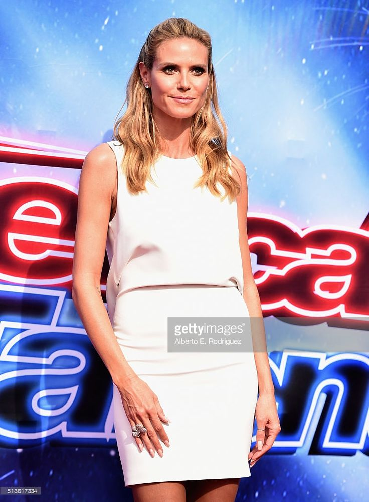 Model Heidi Klum attends NBC's 'America's Got Talent' Season 11 Kickoff at Pasadena Civic Auditorium on March 3, 2016 in Pasadena, California.