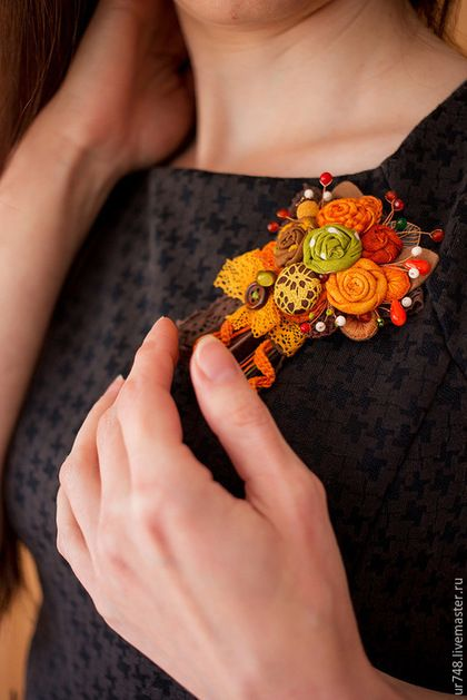 Autumn colored brooch