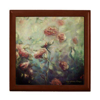 #Painted Roses wooden keepsake box - #floral #gifts #flower #flowers