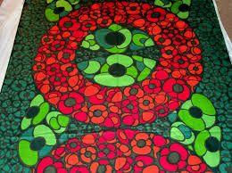 Vintage Tampella fabric Fiesta design by Marjatta Metsovaara